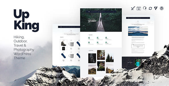 Upking v1.2 — Hiking Club WordPress Theme