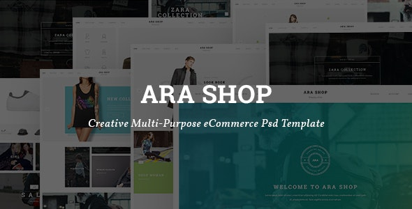 Ara — Fashion Store Multipurpose PSD Template