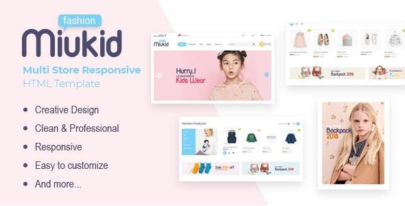 MiuKid v1.0.0 — Multi Store Responsive HTML Template