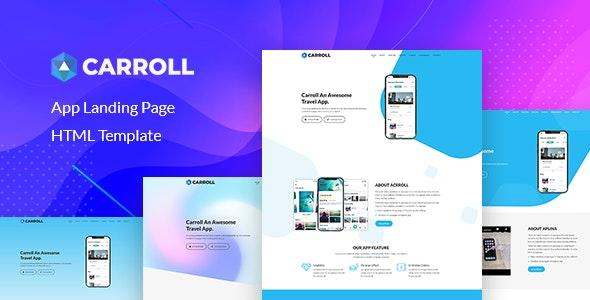 Carroll v1.0 — App Landing Page HTML Template