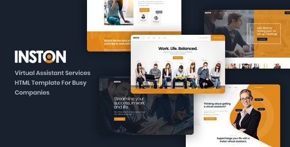 Inston v1.0 — Virtual Assistant Services HTML Template