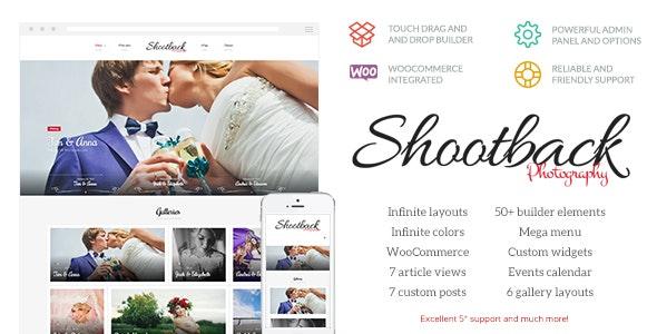 Shootback v1.1.4 — Retina Photography WordPress Theme