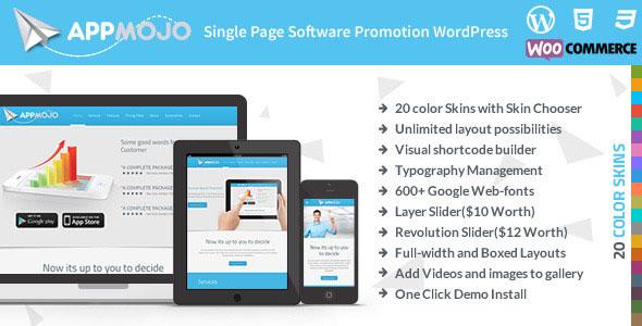 App Mojo v3.2 — Responsive Single Page Promotion Theme