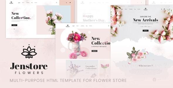 JenStore v1.0.0 — Multi-Purpose HTML Template for Flower Store