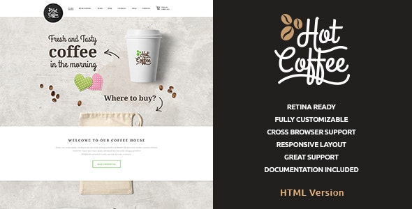 Hot Coffee v1.0.1 — Cafe & Restaurant HTML Template