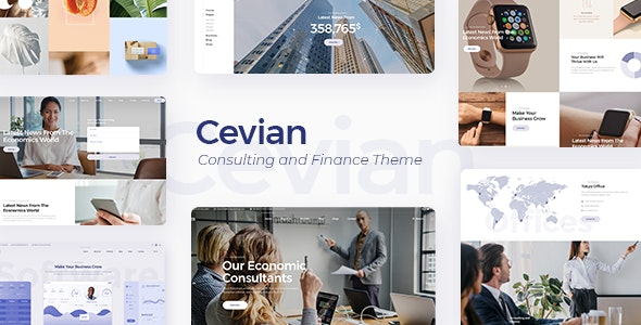 Cevian v1.0 — Consulting and Finance Theme
