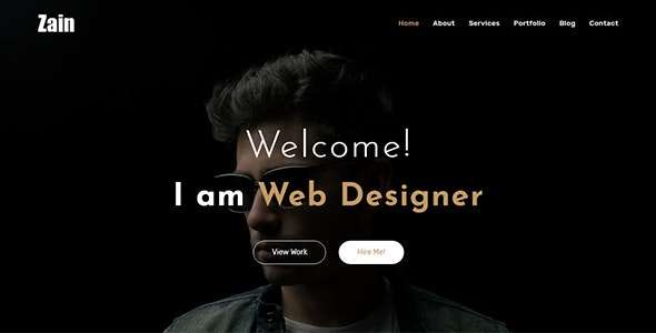 Zain v1.0 — One Page Portfolio