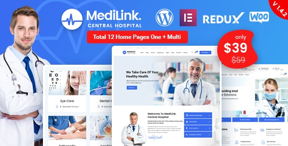 Medilink v1.4.3 — Health & Medical WordPress Theme