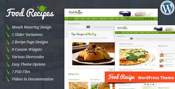 Food Recipes v4.0.2 — Themeforest WordPress Theme