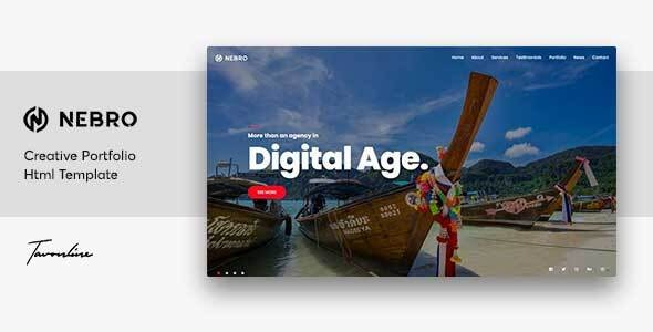 Nebro v1.0 — A Creative Digital & Marketing Agency OnePage Template