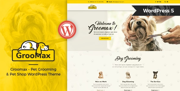 Groomax v1.2 — Pet Grooming & Shop WordPress Theme