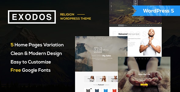 Exodos v1.6 — Church WordPress Theme