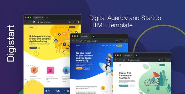 Digistart v1.0.0 — Digital Company HTML Template