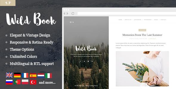 Wild Book v1.7.2 — Vintage, Elegant & Summer