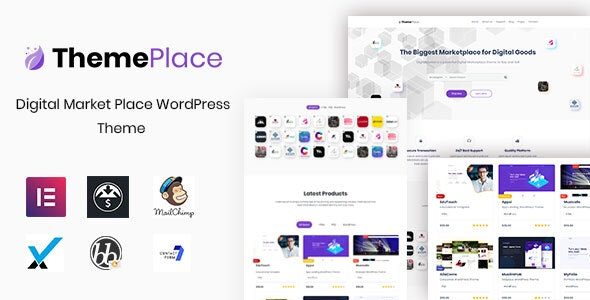 ThemePlace v1.0.7 — Marketplace WordPress Theme