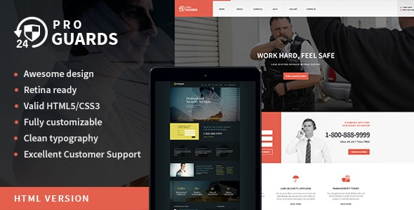 ProGuards v1.0 — Safety & Security Site Template