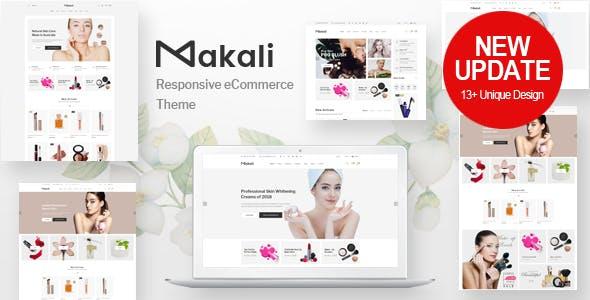 Makali v1.2.8 — Cosmetics & Beauty Theme