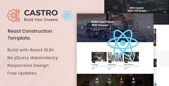 Castro v1.2 — React Construction Template