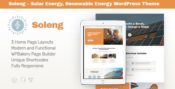 Soleng v1.0.4 — A Solar Energy Company WordPress Theme