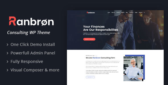 Ranbron v1.9 — Business and Consulting WordPress Theme