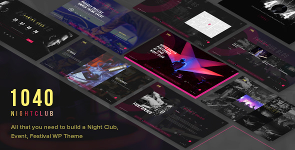 1040 Night Club v1.2 — DJ, Party, Music Club Theme