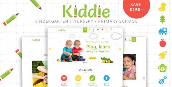 Kiddie v4.1.4 — Kindergarten and Preschool WordPress Theme