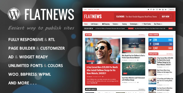 FlatNews v4.2 – Responsive Magazine WordPress Theme