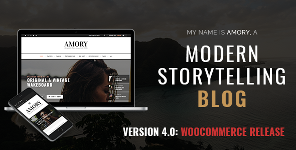 Amory Blog v4.4 — A Responsive WordPress Blog Theme