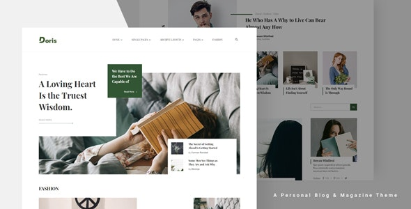 Doris v1.0 — Creative WordPress Blog and Magazine Theme