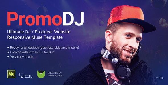 PromoDJ v3.0 — DJ / Producer / Musician Website Responsive Muse Template