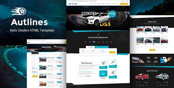 Autlines v1.0 — Autodealer HTML Template