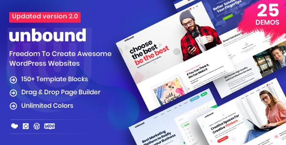 Unbound v2.1.0 — Business Agency Multipurpose Theme