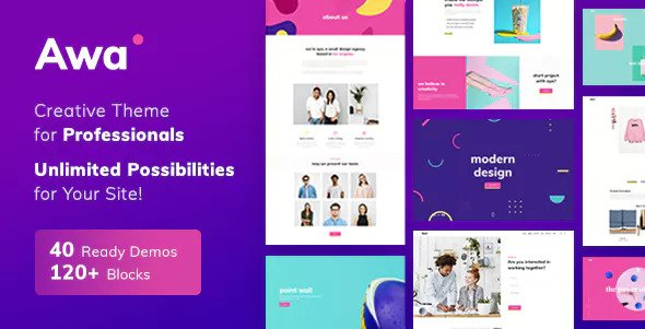 AWA v1.3.6 — Portfolio WordPress Portfolio & Agency