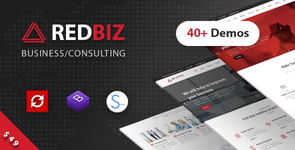 RedBiz v1.1.4 — Finance & Consulting Multi-Purpose Theme