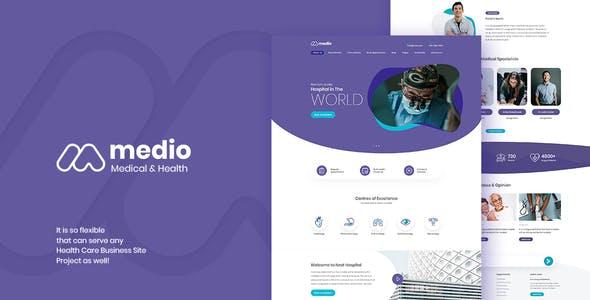 Medio v1.1 — Medical Organization WordPress Theme