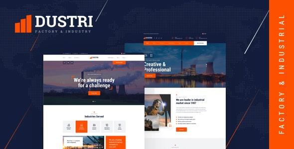 Dustri v1.0 — Factory & Industrial HTML Template