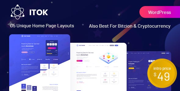 ITok v1.1.10 — ICO and Cryptocurrency WordPress Theme