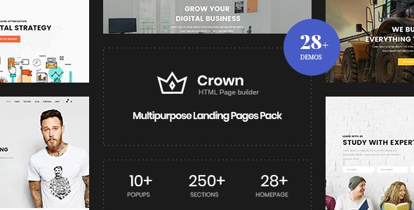 Crown v1.0 — Multi-Purpose Html5 Landing Template