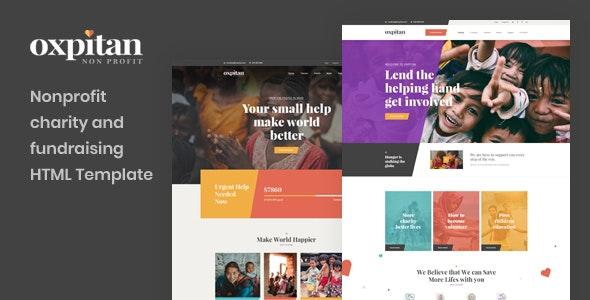 Oxpitan v1.0 — Nonprofit Charity and Fundraising HTML5 Template