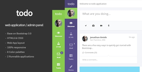 todo — Web Application and Admin Panel Template