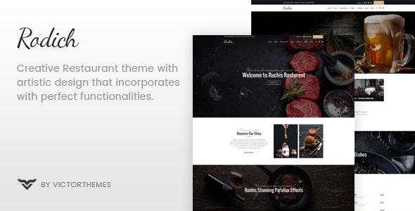 Rodich v1.7.1 — A Restaurant WordPress Theme