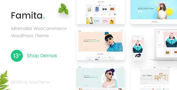 Famita v1.18 — Minimalist WooCommerce WordPress Theme