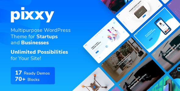 Pixxy v1.0.8 — App, Software & SaaS Startup WordPress