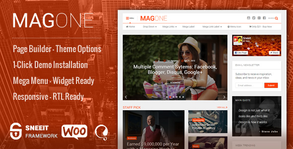 MagOne v6.4.6.7 — Newspaper & Magazine WordPress Theme