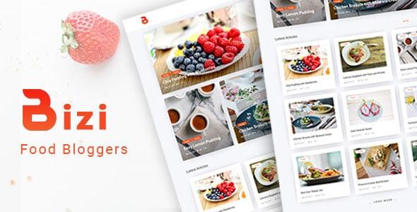 Bizi v2.0.0 — A WordPress Theme for Food Bloggers