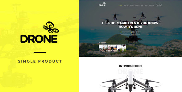 Drone v1.16 — Single Product WordPress Theme