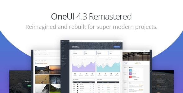 OneUI v4.3.0 — Bootstrap 4 Admin Dashboard Template & Laravel Starter Kit