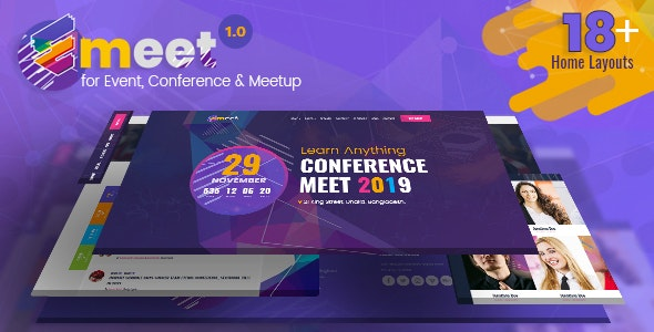 Emeet v1.0 — Event HTML, Conference and Meetup