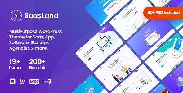 SaasLand v1.9.1 — MultiPurpose Theme for Saas & Startup