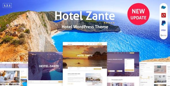 Zante v1.1.3 — Hotel Booking Theme